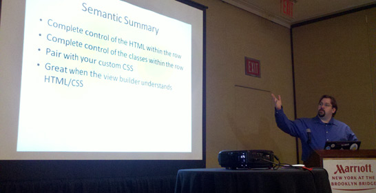 Earl Miles gives a session about Semantic Views